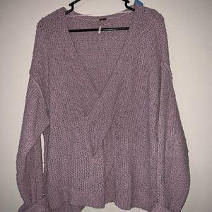 Free People lilac sweater medium